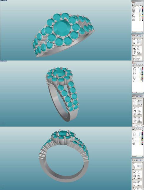 ダイヤの取り巻きリング リフォーム デザイン画 02