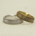 唐草柄(蔦、ツタ)の結婚指輪