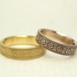 縁起の良い柄の結婚指輪(七宝柄、吉祥文様)