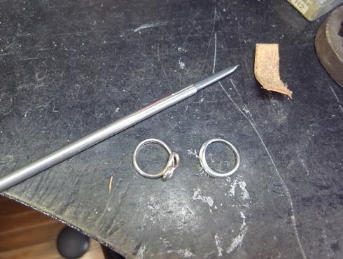 ティファニーのシルバーリングの新品加工 06