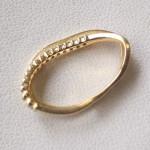 大きく変形した指輪の修理とサイズ直し