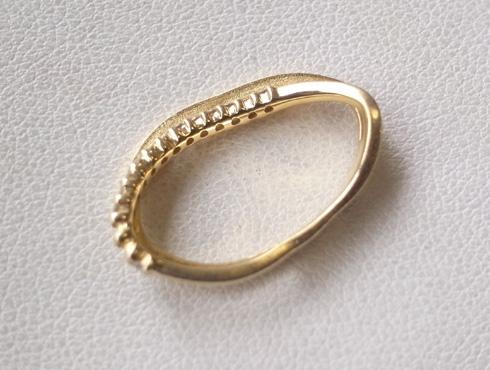 大きく変形した指輪の修理とサイズ直し 01