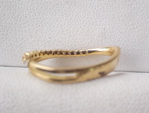 大きく変形した指輪の修理とサイズ直し 02