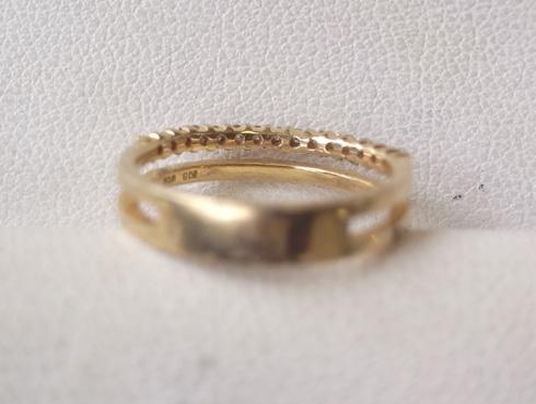 大きく変形した指輪の修理とサイズ直し 06