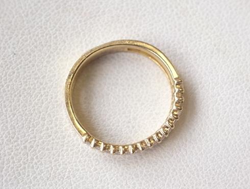 大きく変形した指輪の修理とサイズ直し 07