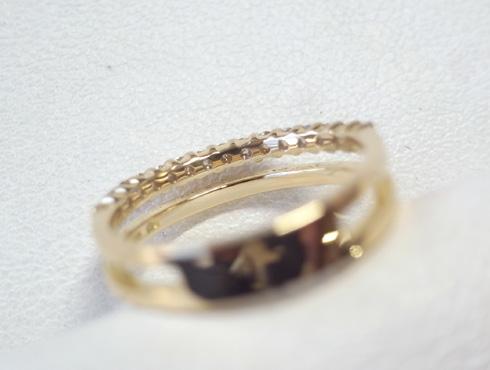 大きく変形した指輪の修理とサイズ直し 09
