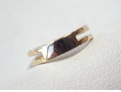 大きく変形した指輪の修理とサイズ直し 11