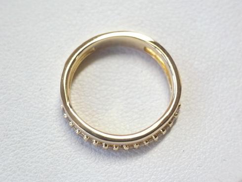 大きく変形した指輪の修理とサイズ直し 12