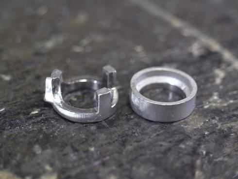 シンプルなダイヤ1粒ペンダント 製作過程 01