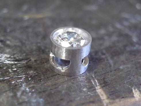 シンプルなダイヤ1粒ペンダント 製作過程 03