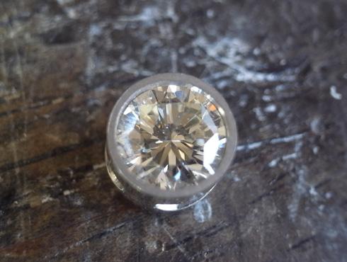 シンプルなダイヤ1粒ペンダント 製作過程 06