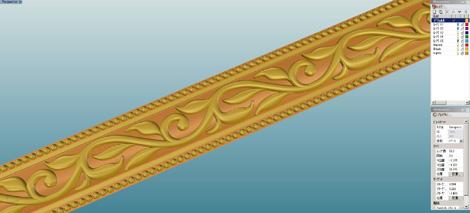 アンティーク調の唐草模様の結婚指輪 CAD画像(デザイン画)
