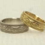 アンティーク調の唐草の結婚指輪