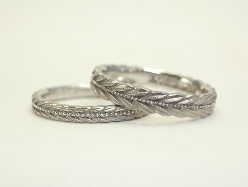 アレンジ製作した月桂樹の結婚指輪