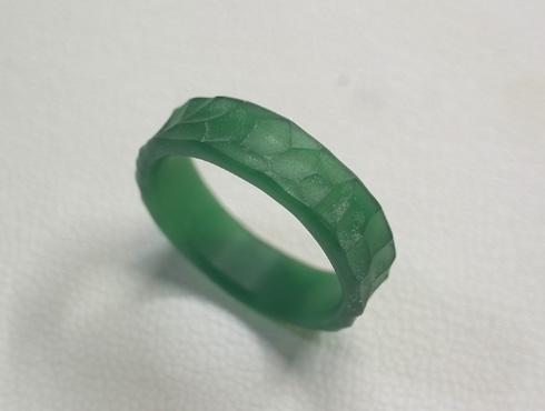 幅の太い槌目風の結婚指輪 ワックス