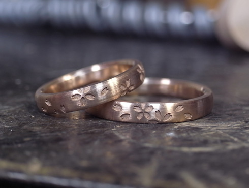 桜 結婚指輪 01