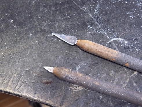 ワックス加工用の彫金工具を改善 02