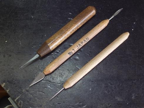 ワックス加工用の彫金工具を改善 05