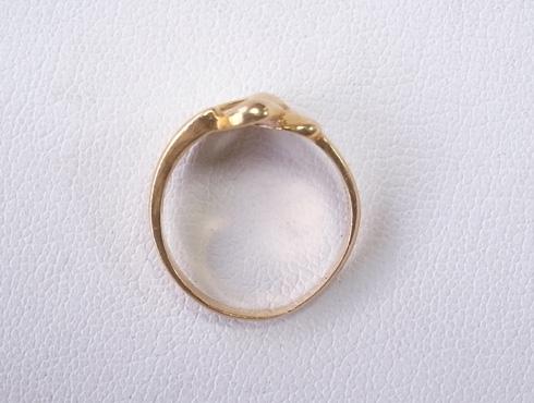 指輪の細くなった腕を修理&サイズ直し 02