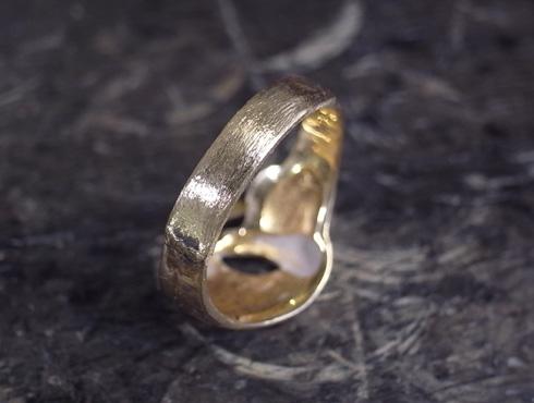 指輪の細くなった腕を修理&サイズ直し 10