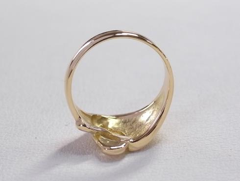 指輪の細くなった腕を修理&サイズ直し 15