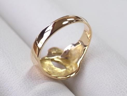 指輪の細くなった腕を修理&サイズ直し 17