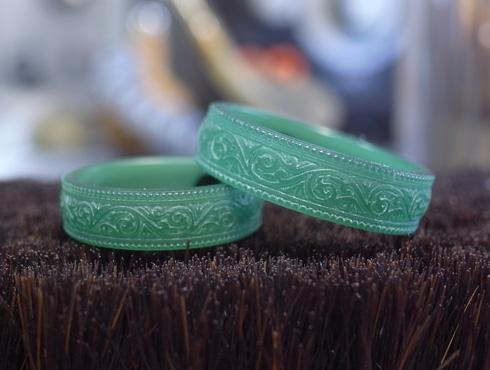 唐草模様の結婚指輪 ワックス