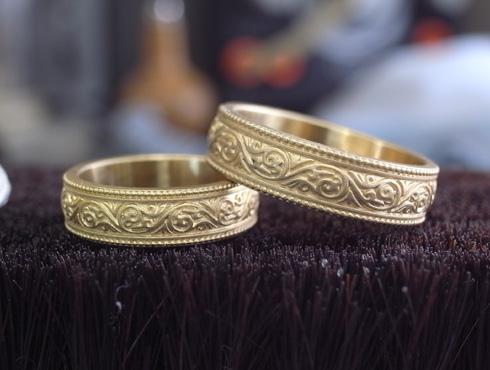 唐草模様の結婚指輪 製作過程 01