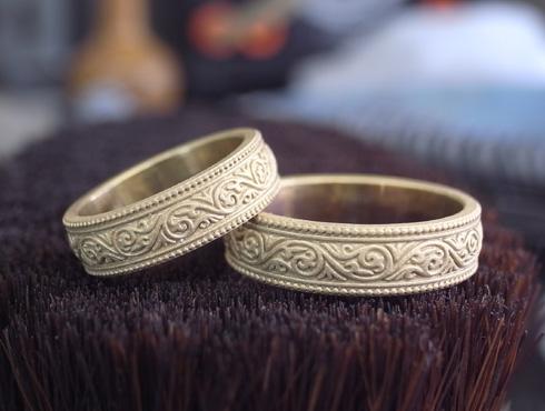 唐草模様の結婚指輪 製作過程 02