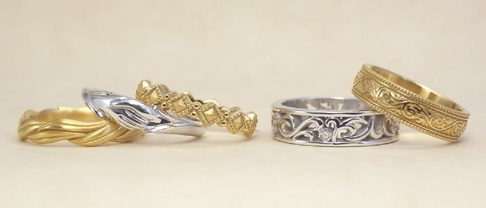 オーダージュエリーで製作した結婚指輪 01