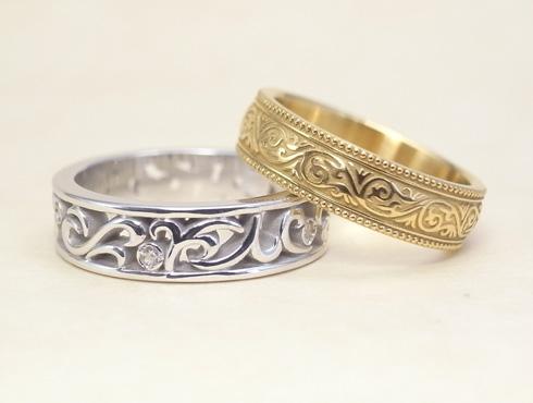 オーダージュエリーで製作した結婚指輪 02