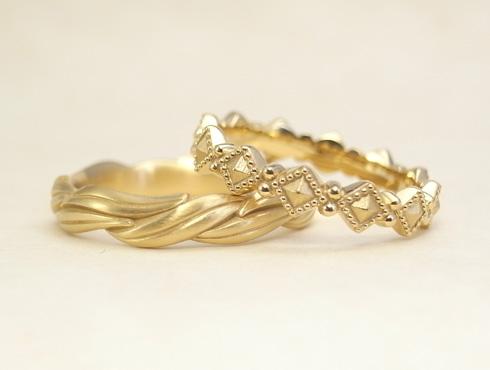 オーダージュエリーで製作した結婚指輪 04