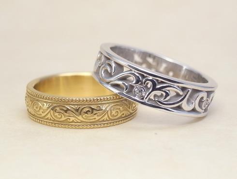 オーダージュエリーで製作した結婚指輪 06