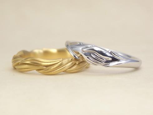 オーダージュエリーで製作した結婚指輪 07