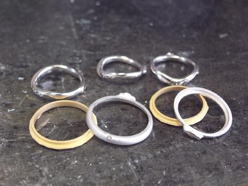 アトリエエッグのオリジナル結婚指輪の製作 01