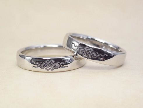 吉祥文様の結婚指輪 02