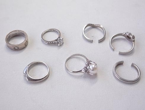 カルティエの婚約指輪のサイズ直し ソリテール リング solitaire ring 01