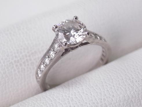 カルティエの婚約指輪のサイズ直し ソリテール リング solitaire ring 02
