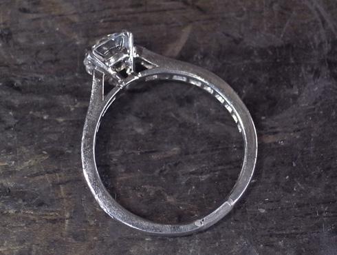 カルティエの婚約指輪のサイズ直し ソリテール リング solitaire ring 06