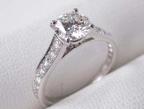 カルティエの婚約指輪のサイズ直し ソリテール リング solitaire ring 07