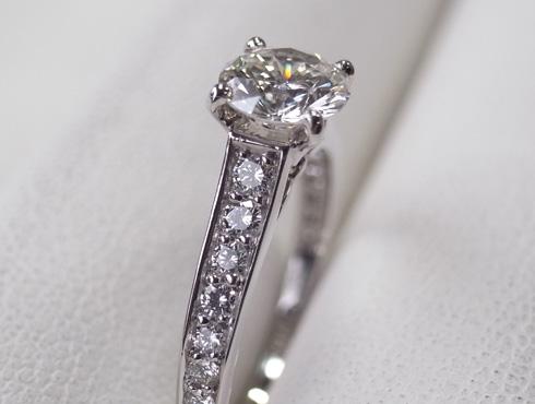カルティエの婚約指輪のサイズ直し ソリテール リング solitaire ring 08