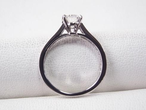 カルティエの婚約指輪のサイズ直し ソリテール リング solitaire ring 09