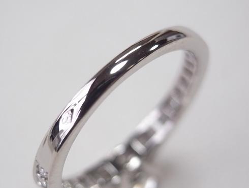 カルティエの婚約指輪のサイズ直し ソリテール リング solitaire ring 11