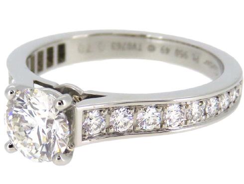 カルティエの婚約指輪のサイズ直し ソリテール リング solitaire ring 14