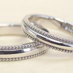 ぷっくりなミル打ちの結婚指輪