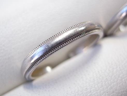 ティファニーのクラシックミルグレイン (結婚指輪)のサイズ直し 01