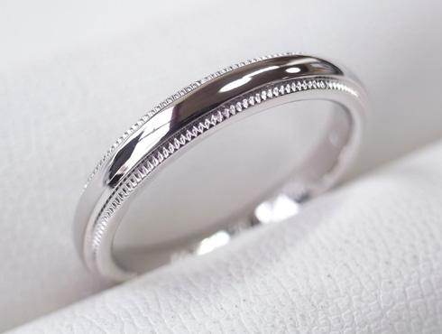 ティファニーのクラシックミルグレイン (結婚指輪)のサイズ直し 21