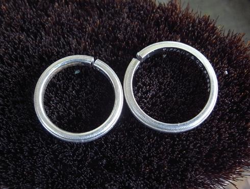 ティファニーのクラシックミルグレイン (結婚指輪)のサイズ直し 03