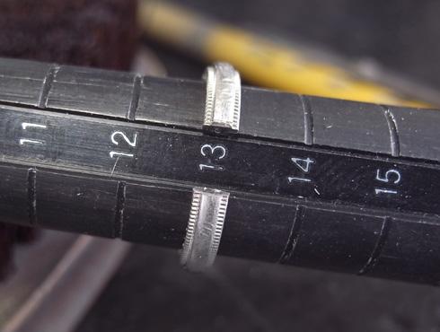 ティファニーのクラシックミルグレイン (結婚指輪)のサイズ直し 04