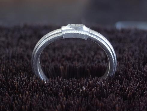 ティファニーのクラシックミルグレイン (結婚指輪)のサイズ直し 07